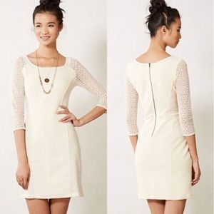 Anthropologie Bordeaux Lace Crochet Cream Ivory S